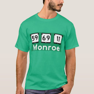 Monroe, Wisconsin Highway Sign T-Shirt