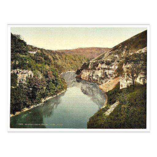 Monsal Dale, Agua-venir-Alegre, Derbyshire, Inglat Tarjeta Postal