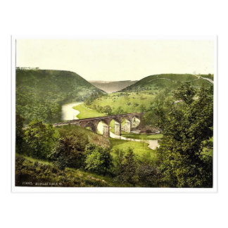 Monsal Dale III., Derbyshire, England magnificent Postcard
