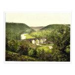 Monsal Dale III., Derbyshire, Inglaterra magnífica Tarjeta Postal