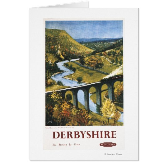 Monsal Dale, Train and Viaduct British Rail Card