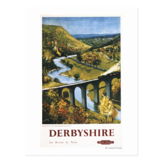 Monsal Dale Train and Viaduct British Rail Postcards