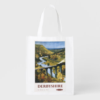 Monsal Dale, Train and Viaduct British Rail Reusable Grocery Bags