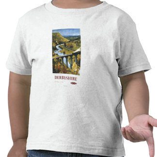 Monsal Dale, tren y viaducto British Rail Camiseta
