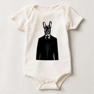 Monsieur avec Cravat Baby Bodysuit