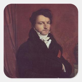 Monsieur de Norvins, 1811-12 Pegatina Cuadrada