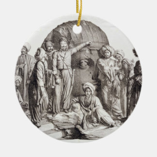 Monsieur Drovetti and his followers using a plumb Ceramic Ornament