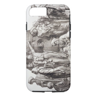 Monsieur Drovetti and his followers using a plumb iPhone 8/7 Case