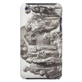 Monsieur Drovetti and his followers using a plumb iPod Touch Case