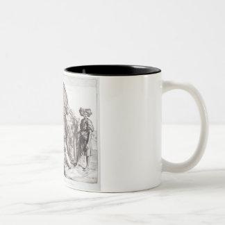 Monsieur Drovetti and his followers using a plumb Two-Tone Coffee Mug