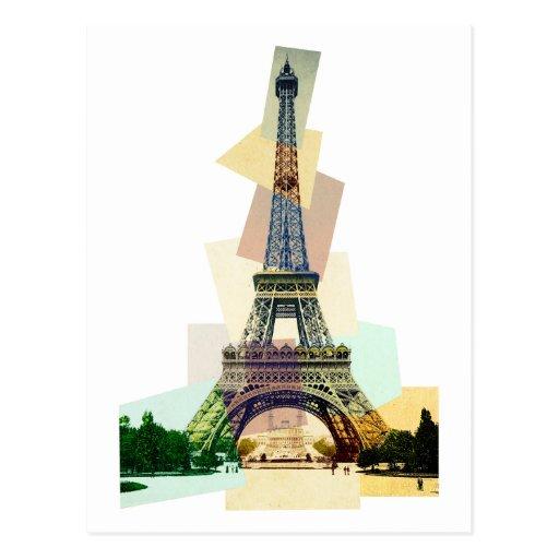 Monsieur Eiffel's tower Postcard