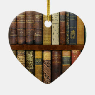Monsieur Fancypantaloons' Instant Library Bookcase Ceramic Ornament