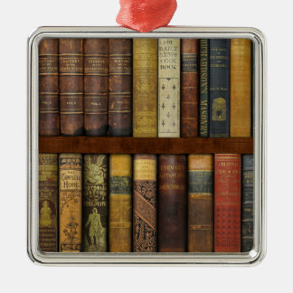 Monsieur Fancypantaloons' Instant Library Bookcase Metal Ornament
