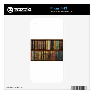 Monsieur Fancypantaloons' Instant Library Bookcase Skins For iPhone 4S