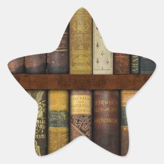 Monsieur Fancypantaloons' Instant Library Bookcase Star Sticker