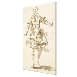 Monsieur Jeliotte as Pigmalion, in Pigmalion, a li Stretched Canvas Prints