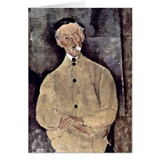 Monsieur Lepoutre-Portrait By Amedeo Modigliani Greeting Card