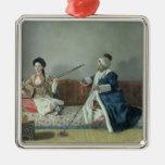 Monsieur Levett and Mademoiselle Helene Metal Ornament