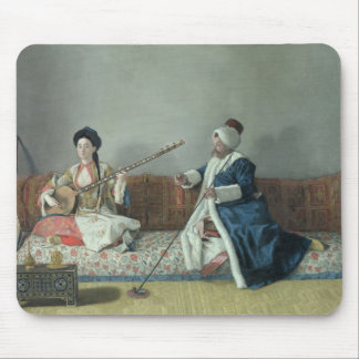 Monsieur Levett and Mademoiselle Helene Mouse Pad