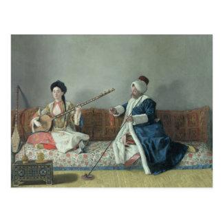 Monsieur Levett and Mademoiselle Helene Post Cards