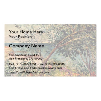 Monsieur Maufra's Garden by Sea by Maxime Maufra Business Card