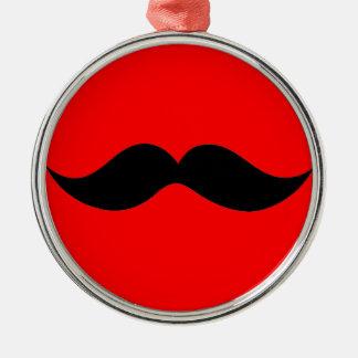 Monsieur Moustache Metal Ornament