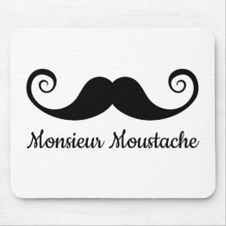 Monsieur Mustache design with curly moustache Mouse Pad