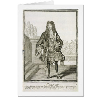 Monsieur otherwise Philip Duc d Orleans of Franc Card