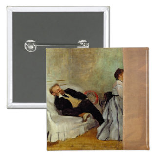 Monsieur y señora Eduardo Manet, 1868-69 Pin Cuadrada 5 Cm