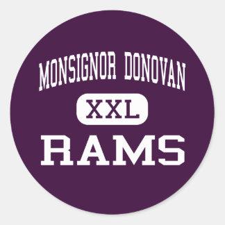 Monsignor Donovan - Rams - Catholic - Athens Round Sticker