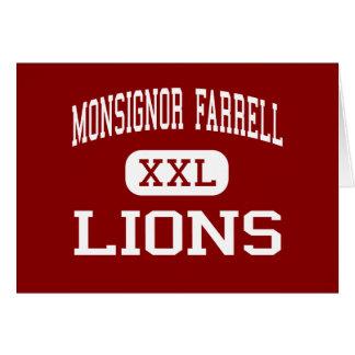 Monsignor Farrell - Lions - High - Staten Island Card