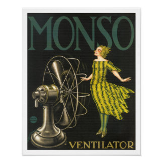 Monso Ventilator Antique Ad Poster