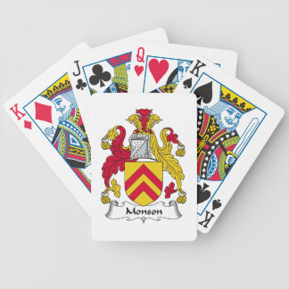 Monson Family Crest Bicycle Poker Deck