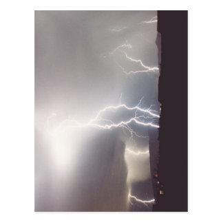 Monsoon Lightning Storm Strikes Vail, Arizona Postcard