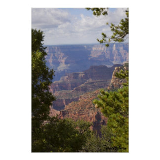 Monsoon Season At North Rim Of The Grand Canyon Poster