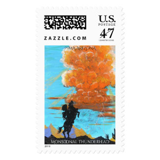 Monsoonal thunderheads postage stamp