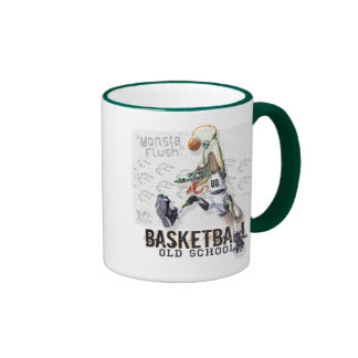 Monsta Flush Old School Dino Hoops Ringer Mug