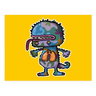 monster3 tarjeta postal