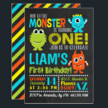 """Monster 1st Birthday Party Invitation<br><div class=""""desc"""">Is your little monster turning one?  Throw him a party with this fun theme!</div>"""