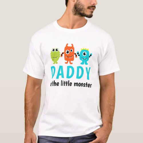 Monster 1st Birthday T_Shirt for Daddy