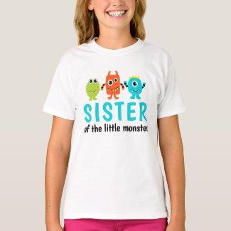 Monster 1st Birthday T-Shirt for Sister