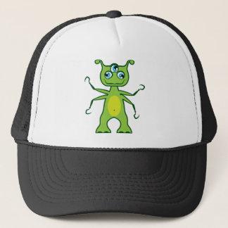 Monster 3 eye trucker hat