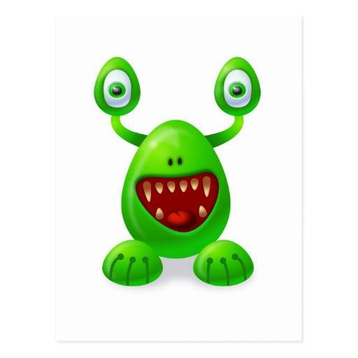 Monster 3 postcard