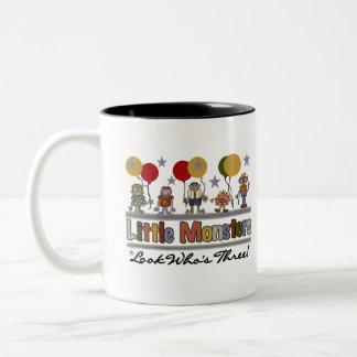 Monster 3rd Birthday Two-Tone Coffee Mug