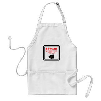 monster ahead adult apron