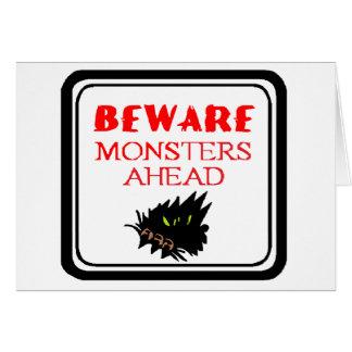monster ahead card