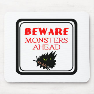 monster ahead mouse pad