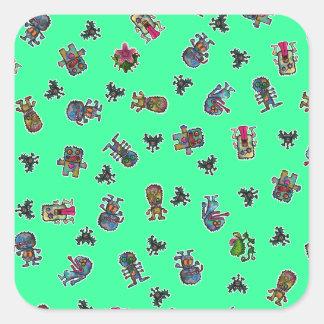Monster all square sticker