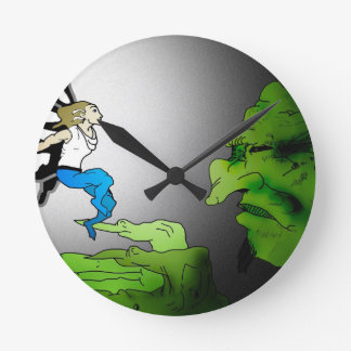 Monster and Nymph fairy Round Wall Clock