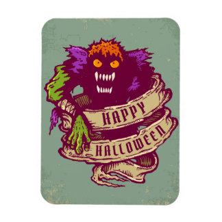 Monster and old ribbon for Halloween Rectangular Photo Magnet